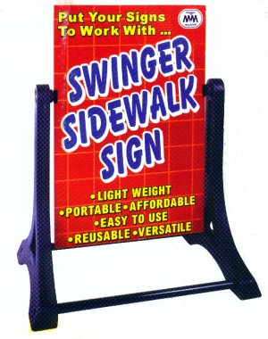 The swinger sidewalk sign